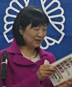 会員スピーチをする山本正乃さん