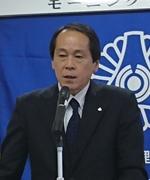 講話中の清田巳喜男さん